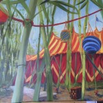 """Temple of Fun""acrylic on panel ~ in Rouge Exhibit"