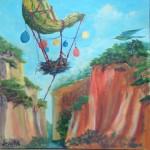 Seasonal Migration #6 acrylic on canvas ~  in Rouge Exhibit